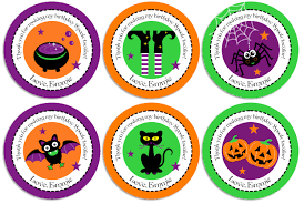 halloween birthday party personalized cupcake toppers favor