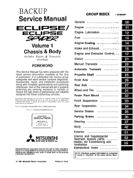 mitsubishi eclipse service manual backup service manual u0027 ecib u0027se