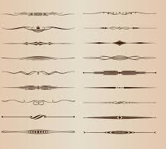 vector set of ornamental design rule lines free vector in