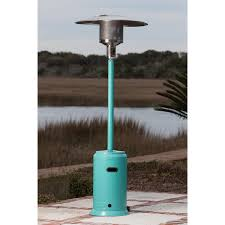 patio heater wheels fire sense 46 000 btu propane gas patio heater aqua blue 61130