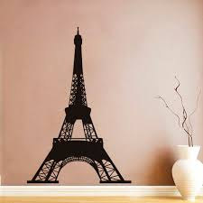 popular paris wall decals buy cheap paris wall decals lots from dctop romantic art design pvc wall stickers eiffel tower paris wall decals removable murals for living