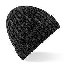 beechfield unisex winter chunky ribbed beanie hat one