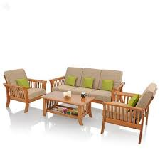 wooden set wooden with cushions 12963