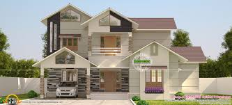 sloping roof villa in 3200 sq ft kerala home design and floor plans
