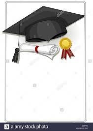 graduation items frame design featuring graduation related items stock photo