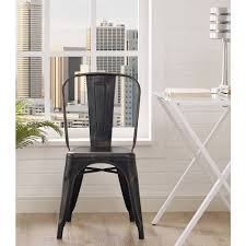 Metal Kitchen Chairs Mainstays Steel Chair Black Walmart Com