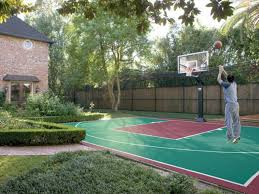 backyard basketball courts and home gyms sport court inexpensive