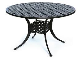48 by 48 table newport by hanamint luxury cast aluminum patio furniture 48 round