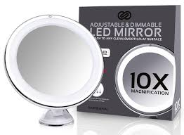 amazon com sanheshun 10x magnifying lighted travel makeup mirror