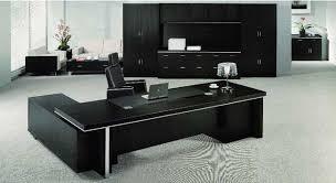 Black Office Desks Echanting Of Executive Office Desk Modern Luxury Black Office
