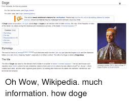 doge from wikipedia the free encyclopedia for the internet meme see
