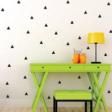 home decor patterns triangle wall stickers vinyl decals geometric patterns modern wall