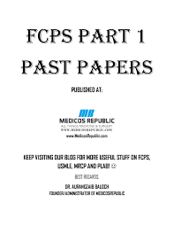 fcps part 1 past papers pdf download 16 000 mcqs qbank
