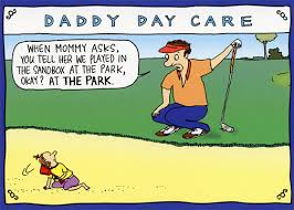 sandbox golf rhymes with orange funny humorous birthday card by
