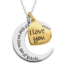 paj sterling silver and gold plated i you to the moon and back