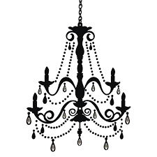 Chandelier Sign Medical Roommates Rmk1805gm Chandelier With Gems Peel And Stick Giant Wall