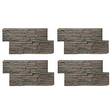 faux stone stone veneer the home depot stacked stone 24 in x 42 in keystone faux stone siding