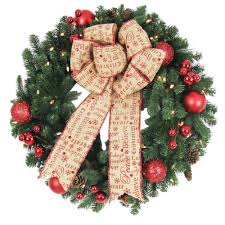 home accents holiday 30 in battery operated holiday burlap