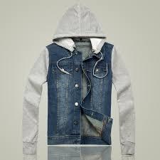 jean sweater jacket 2016 s denim jacket mens hooded jacket winter coat