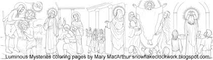 free luminous mysteries coloring pages
