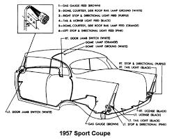 body wiring diagram for 1957 chevrolet passenger car sport coupe