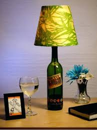 table lamps clear glass bottle table lamp recycled glass bottle