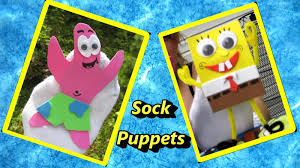 easymeworld how to make spongebob and patrick sock puppets