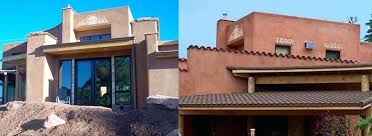 adobe style home plans santa fe style house style home valley lot contemporary exterior