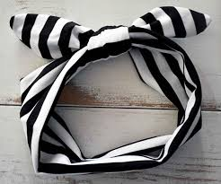 halloween headbands black u0026 white stripe knot headband
