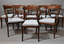Antique Regency Dining Chairs Elegant Mahogany Dining Chairs With Chairs Mahogany Georgian The