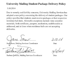 university mailing services