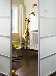 liding glass doors frosted nursery