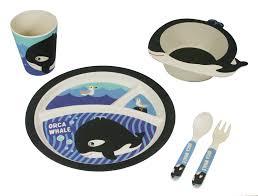 bamboo kids 5pc dinnerware set frog u2013 freshique