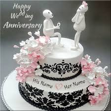 Wedding Wishes Online Editing Write Your Name On Anniversary Cakes