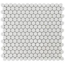 merola tile hudson penny round glossy white  in x  in x  with merola tile hudson penny round glossy white  in x  in x  mm  porcelain mosaic tile  sq ft  case from pinterestcom