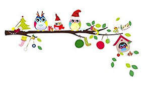 owl christmas christmas monkey and owl christmas owl on branches
