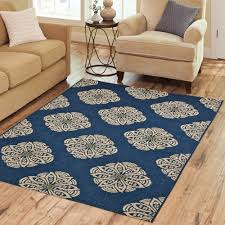 Orange Area Rug With White Swirls Rugs Walmart Com