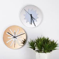 Gold Home Decor Accessories Metal Wall Clock Promotion Shop For Promotional Metal Wall Clock