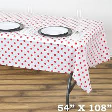 red white polka dot table covers 54 x108 white red wholesale disposable waterproof polka dots