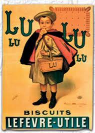 torchon de cuisine 45x65 cm pub retro petit beurre petit ecolier