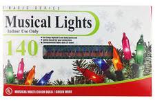 musical christmas lights set of 140 indoor multi color musical christmas lights 8 function