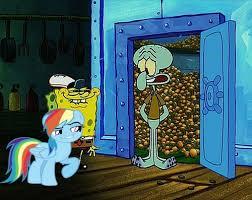 Spongebob Krabby Patty Meme - 492348 daring don t just one bite krabby patty meme rainbow