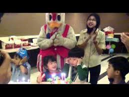 cing birthday party birthday song cing cing 4yrs part at subang parade kfc
