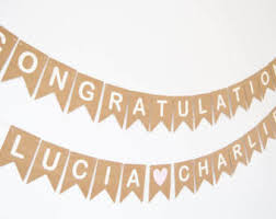 Congratulations Engagement Banner Engagement Party Etsy