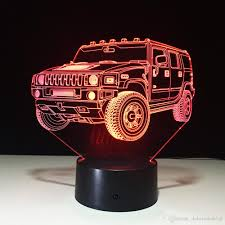 dobe 3d illusion night light suv hummer car lamp birthday