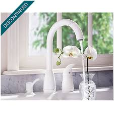 price pfister contempra kitchen faucet white contempra 1 handle kitchen faucet 526 50ww pfister faucets