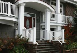 Vinyl Deck and Porch Railing  Custom Deck Railing