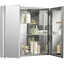 Mirrored Corner Bathroom Cabinet by Home Decor Kohler Mirrored Medicine Cabinet Lighting For Small