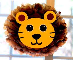 lion pom pom kit king of the jungle safari noahs ark carnival