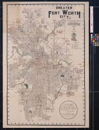 Fort Worth Map Greater Fort Worth City The Portal To Texas History